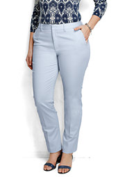 Plus Size Pre-hemmed Fit 2 Mid Rise Straight Leg Chino Pants