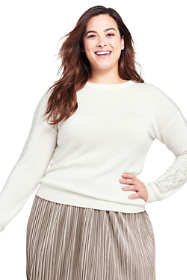 Women's Plus Size Whisper Cashmere Sweater