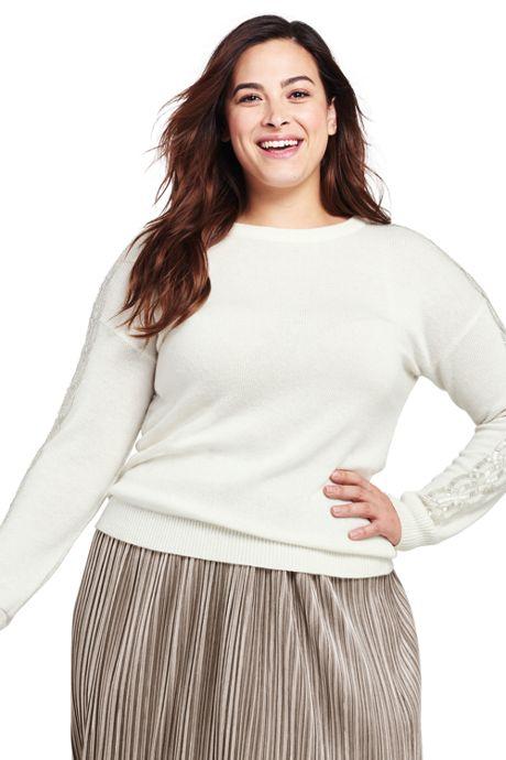Women's Plus Size Whisper Cashmere Sweater