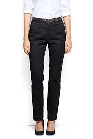 Women's Petite Pre-hemmed Mid Rise Straight Leg Chino Pants