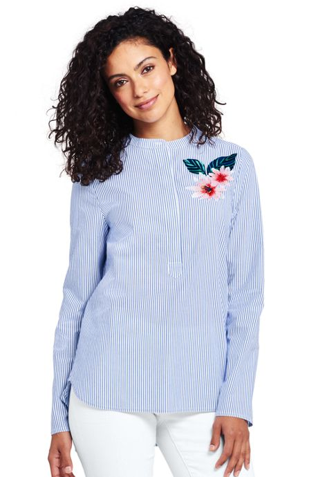 Women's Poplin Embroidered Popover