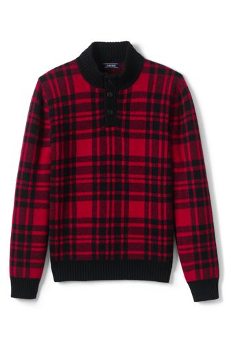 Men's Tartan Polo Neck Jumper