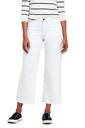 Women's Mid Rise Released Hem Wide Leg Crop Jeans