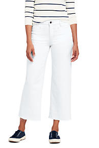 Womens Mid Rise Slim Leg Stain Repellent White Jeans - 16 34 - WHITE Lands End coi0NWtdr9