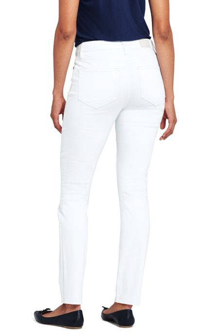 Women's Not-Too-Low Rise Stain Repellent Slim Leg Jeans