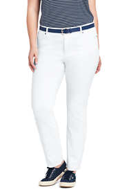 Women's Plus Size Not-Too-Low Rise Stain Repellent Slim Leg Jeans