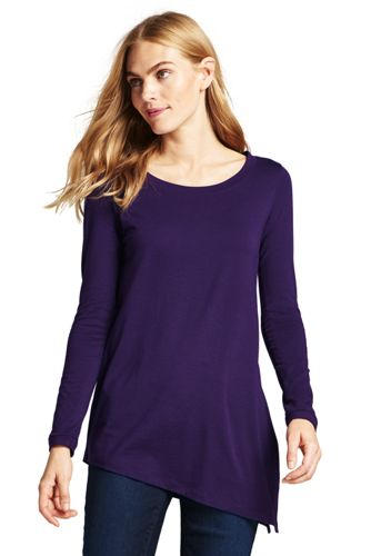 Women's Cotton/Modal Asymmetrical Top
