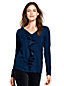 Women's Cotton/Modal Ruffle Front Top