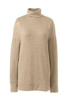 Langes Viskose-Shirt mit Rollkragen für Damen