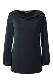 Women's Plus Size Soft Cowl Top