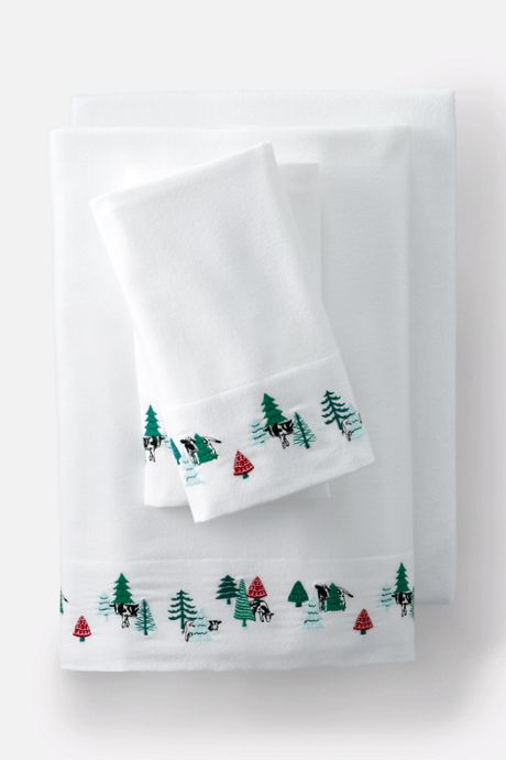 5oz Flannel Embroidered Sheet Set