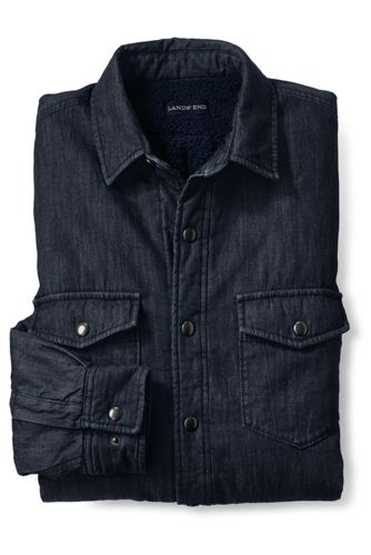 Men's Sherpa-lined Denim Shirt