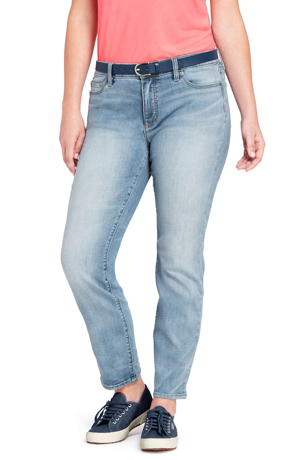 eca5047e1da7c Women s Not-Too-Low Rise Slim Leg Jeans from Lands  End