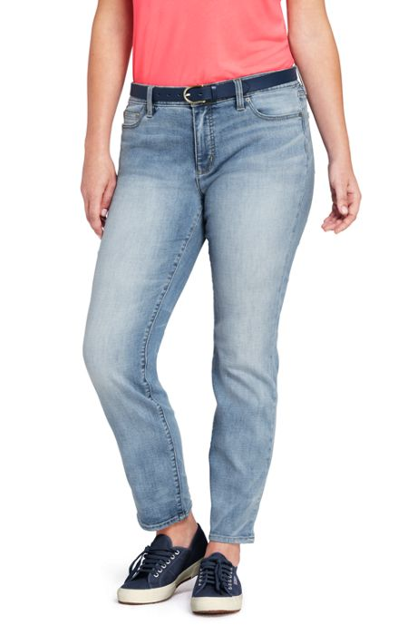 Women's Plus Size Not-Too-Low Slim Leg Jeans