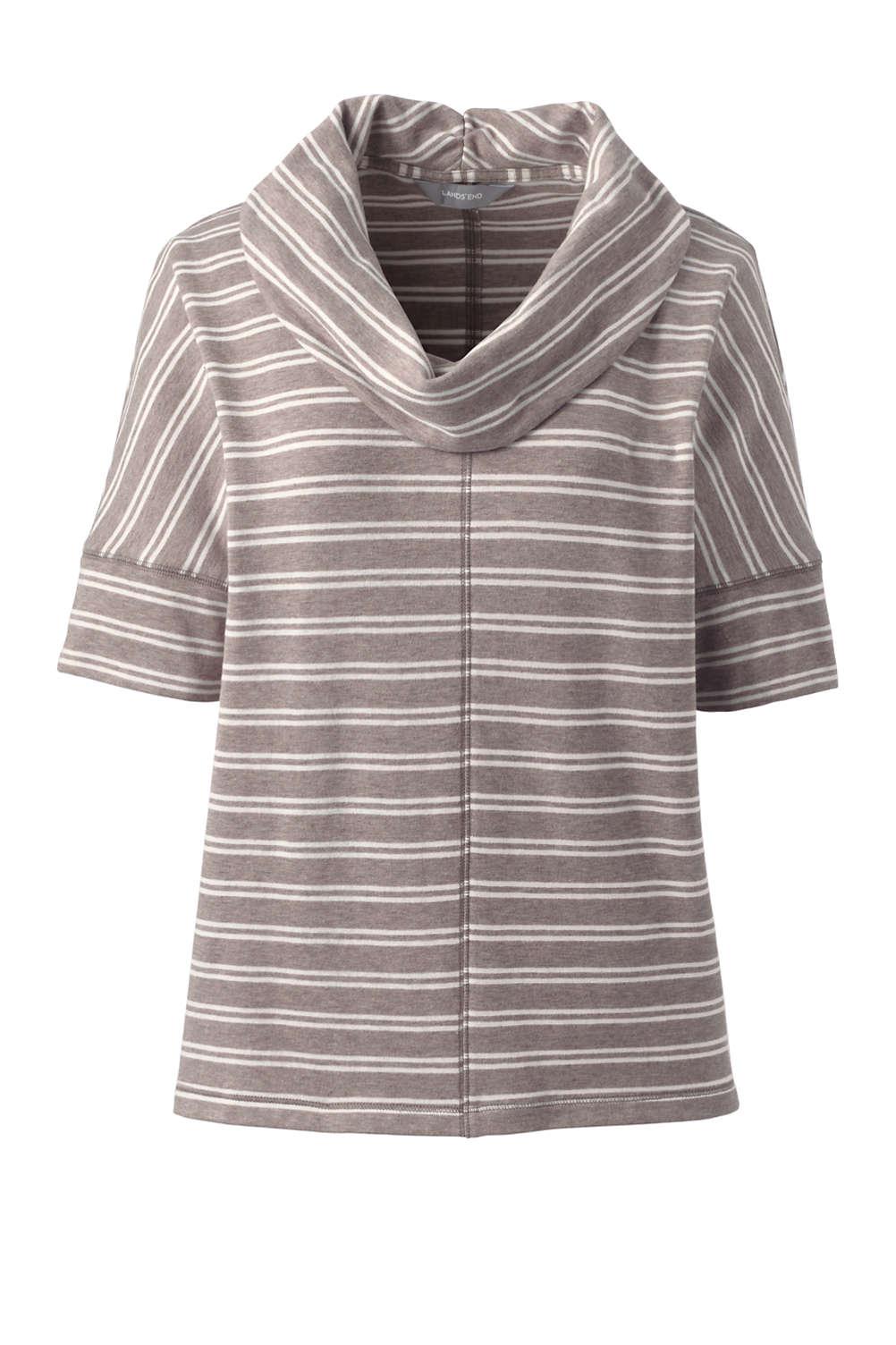 d6bdda5bfda Women s Plus Size Stripe Dolman Sleeve Cowl Neck Top from Lands  End