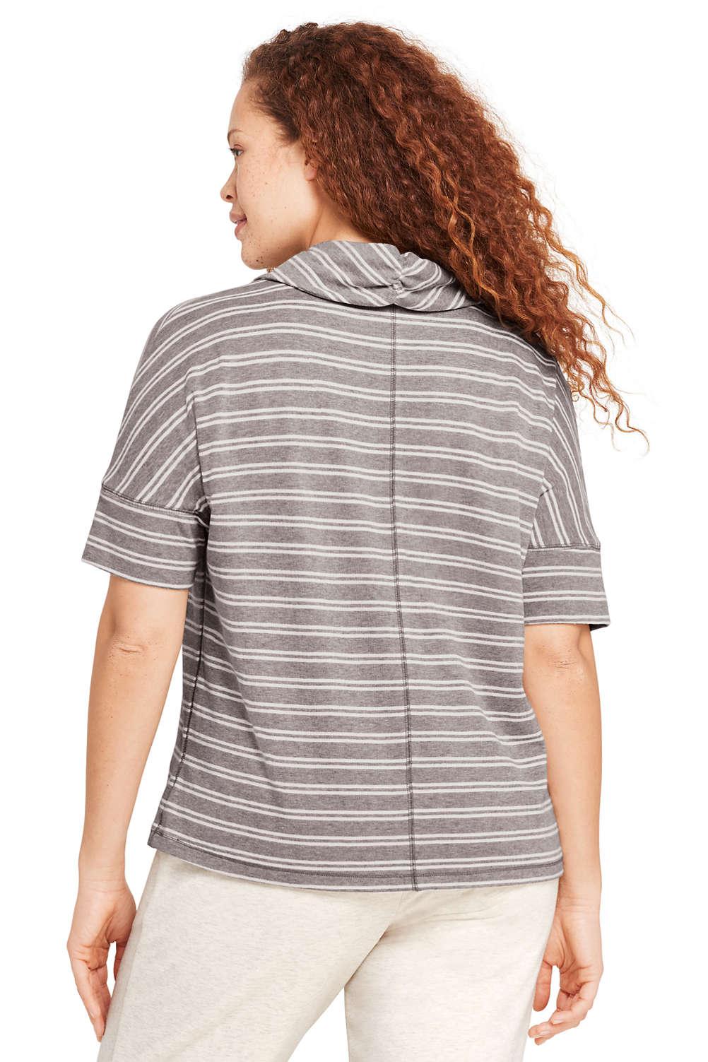 e358e84ad6c Women s Plus Size Stripe Dolman Sleeve Cowl Neck Top from Lands  End