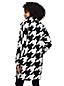 Le Manteau Mi-Long à Motifs en Laine Mélangée, Femme Stature Standard