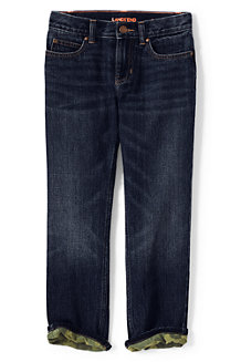Boys' Flannel-lined Classic Fit Iron Knee Jeans