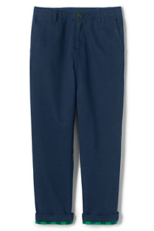 Boys' Iron Knees Flannel-lined Chino Trousers