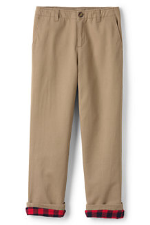 Boys' Iron Knees Flannel-lined Cadet Trousers