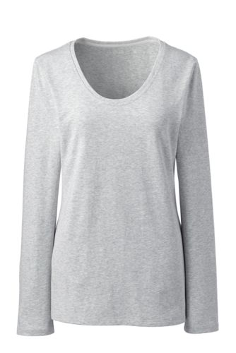 Jersey-Schlafshirt mit V-Ausschnitt für Damen in Normalgröße