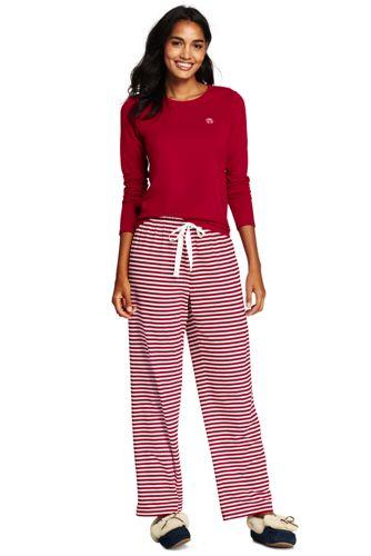 Le Pyjama Rayé 2 Pièces en Coton Stretch, Femme Stature Standard