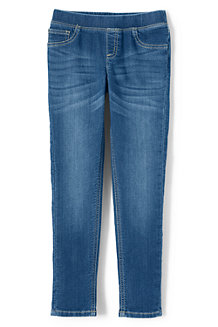 Girls' Pull-on Denim Jeggings