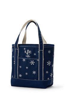 Seasonal Embroidered Tote Bag