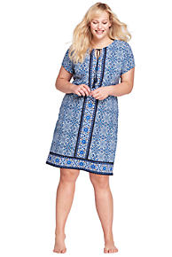 Authentic For Sale Buy Cheap Collections Womens Tropical Print Kaftan Cover-up - 10 -12 - BLACK Lands End Cheap Sale Top Quality Discount Perfect Best Place To Buy Online BFQau