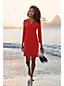 Strandkleid aus Badejersey mit Lasercut-Bordüre für Damen