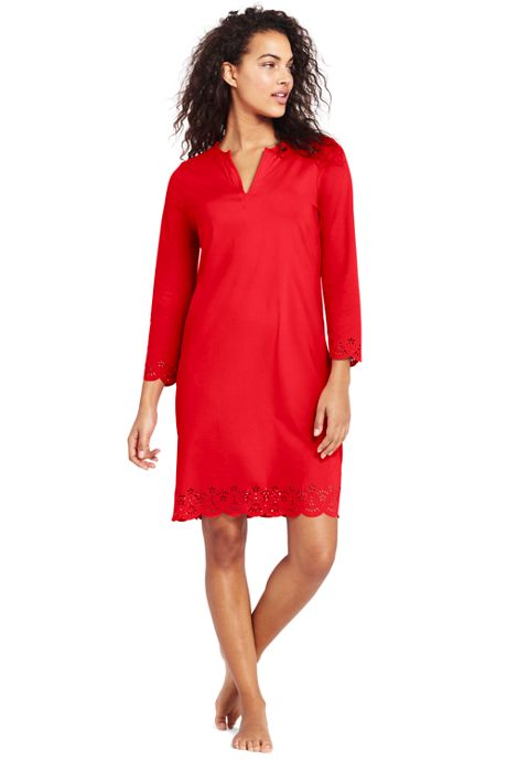 Women's Scalloped Swim Cover-up Dress