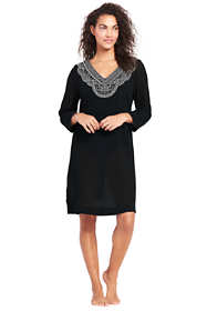 Women's Embroidered Woven Tunic Cover-up