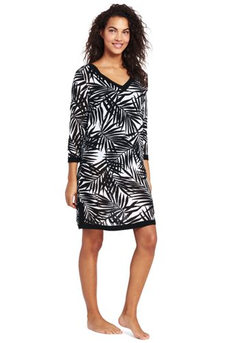 Women's Havana Palm Cotton Cover-up