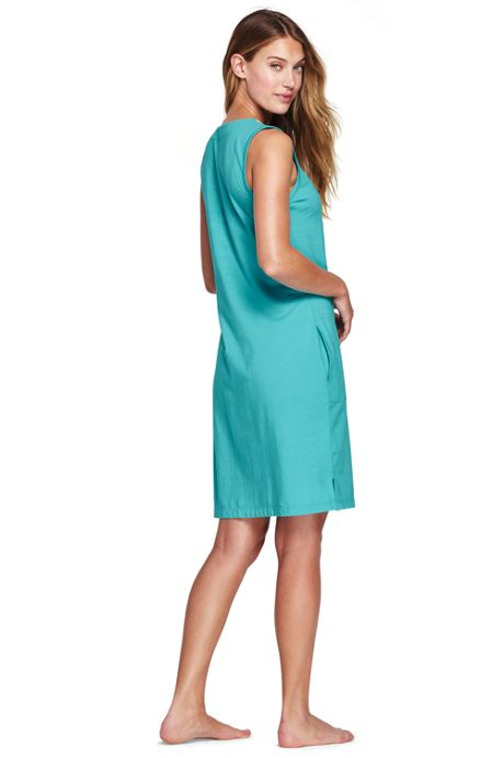 Women's Cotton Embellished Tunic Dress Cover-up