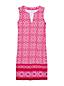 Women's Sleeveless Majolica Border Cotton Cover-up