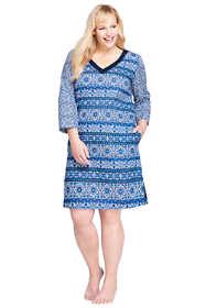 Women's Plus Size Cotton Lawn Woven Tunic Cover-up