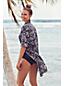 La Robe Chemise de Plage Graphique à Manches Retroussables, Femme Stature Standard