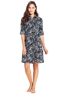 Women's Crinkle Shirtdress Cover-up