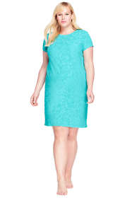 Women's Plus Size Jacquard Terry T-shirt Dress Cover-up