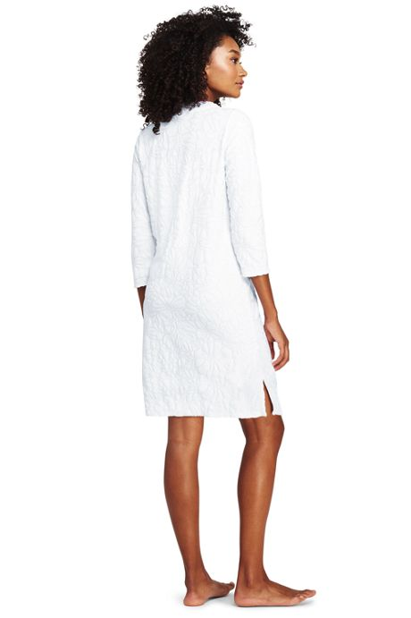 Women's Jacquard Terry V-neck Tunic Cover-up
