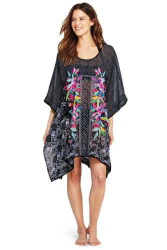 Women's Tropical Print Kaftan Cover-up