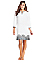Women's Linen Embroidered Scallop Hem Cover-up Dress