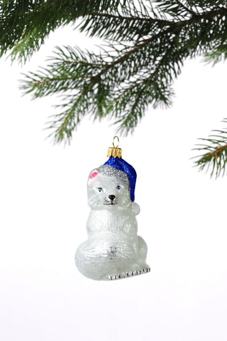 Medium Hand Blown Glass Christmas Ornament