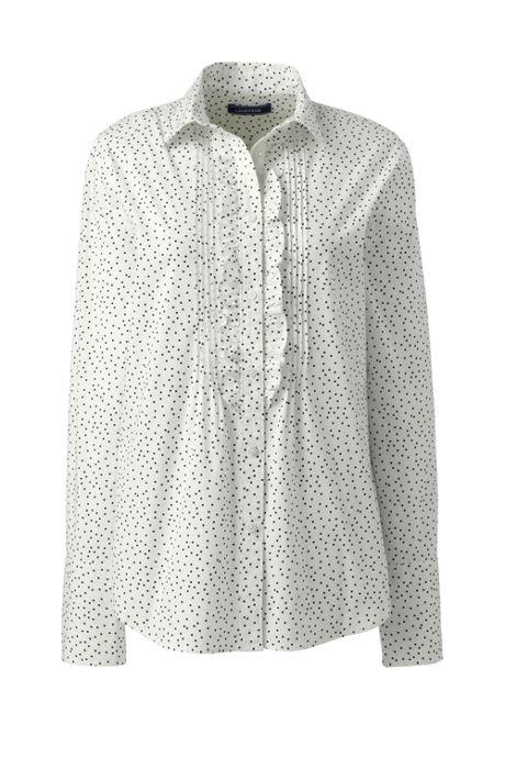 Women's Petite Poplin Tuxedo Shirt
