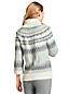 Fairisle Rollkragenpullover im Baumwollmix für Damen