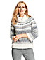 Le Pull Col Roulé Fair Isle Manches 3/4, Femme Stature Standard
