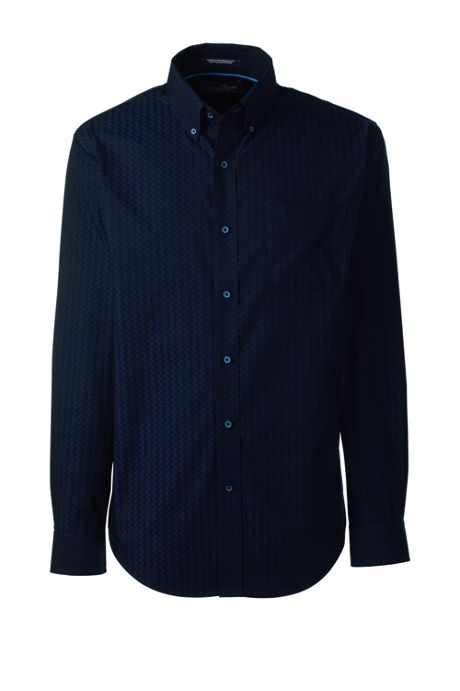 Men's Tall Traditional Long Sleeve Jacquard