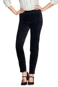 Women's Petite Woven Velvet Pencil Pants
