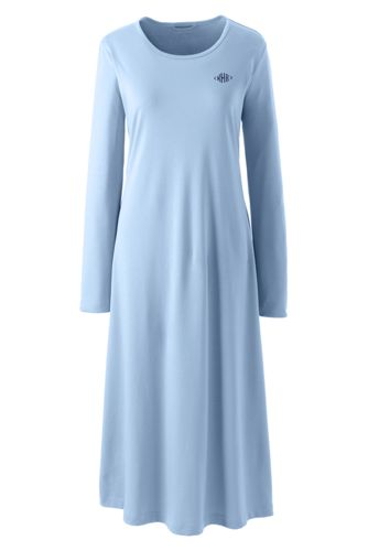 Women s Supima Long Sleeve Calf-length Nightdress  093648f953