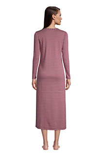 Women's Supima Cotton Long Sleeve Midcalf Nightgown, Back